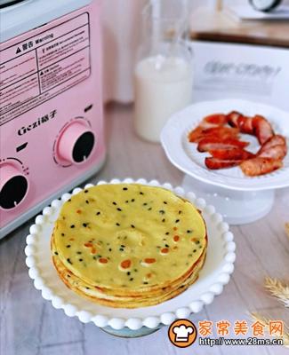 玉米面粉鸡蛋饼的做法图解16