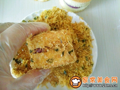 肉松小贝(紫薯芋泥馅)的做法图解15