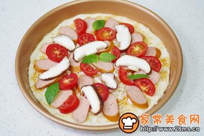 黑胡椒烟熏热狗肠披萨的做法图解10