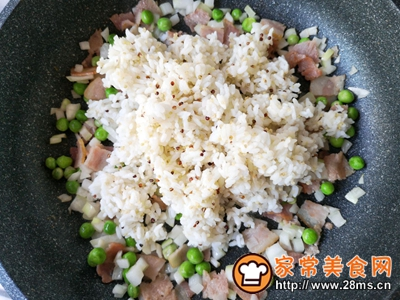 泡菜培根炒饭的做法图解7