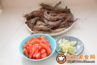 番茄炒虾的做法图解3