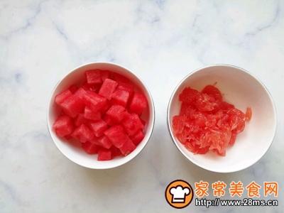 西瓜红柚果饮的做法图解2