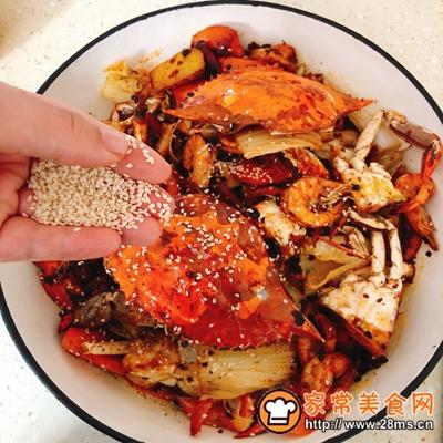 香辣虾蟹干锅的做法图解9