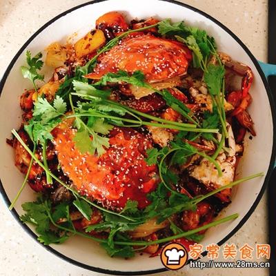 香辣虾蟹干锅的做法图解10