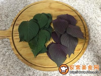 紫苏叶鸡蛋饼的做法图解2