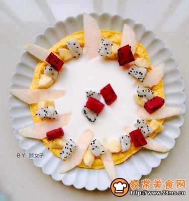 缤纷水果酸奶蛋饼的做法图解8