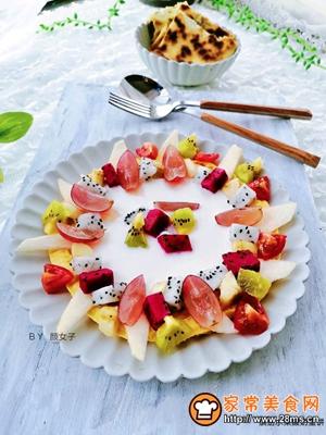 缤纷水果酸奶蛋饼的做法图解9