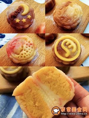 金沙咸蛋黄冰皮月饼的做法图解7