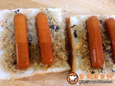 香肠肉松吐司的做法图解4