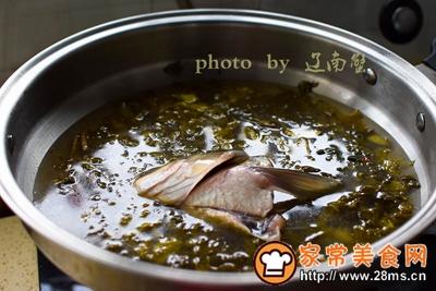 酸菜鱼头土豆粉的做法图解5