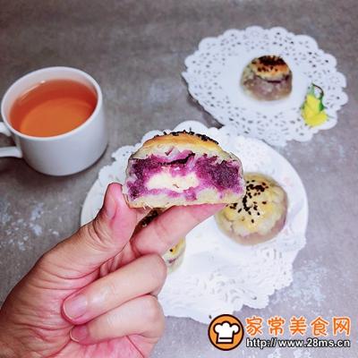 椰浆紫薯奶皮月饼的做法图解16