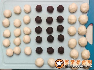 雪媚娘蛋黄酥(低糖少油版)的做法图解4