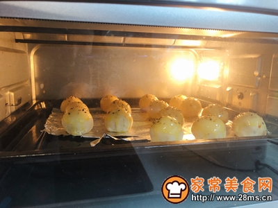雪媚娘蛋黄酥(低糖少油版)的做法图解15