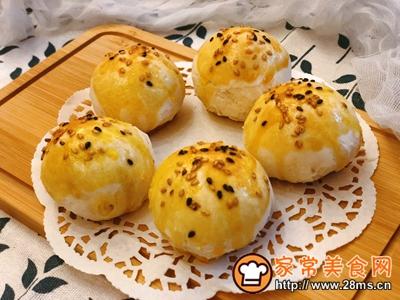 雪媚娘蛋黄酥(低糖少油版)的做法图解16