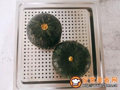 好吃还不用洗碗的~糯米南瓜盅的做法图解11