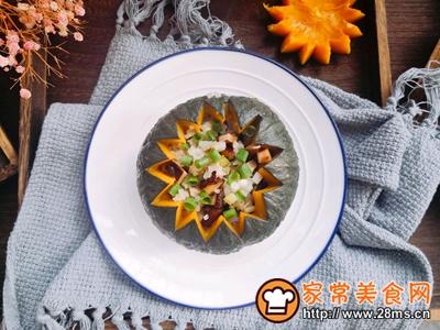 好吃还不用洗碗的~糯米南瓜盅的做法图解12