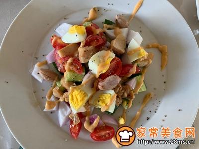 减肥必备蔬菜鸡胸肉沙拉的做法图解3
