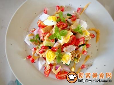 减肥必备蔬菜鸡胸肉沙拉的做法图解4