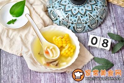 猪肝玉米菌菇汤的做法图解9