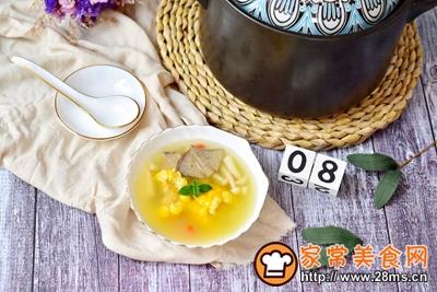 猪肝玉米菌菇汤的做法图解10