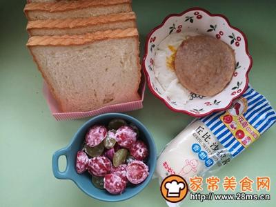 水果沙拉三明治的做法图解3