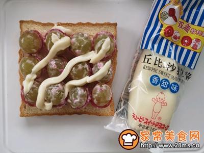 水果沙拉三明治的做法图解4