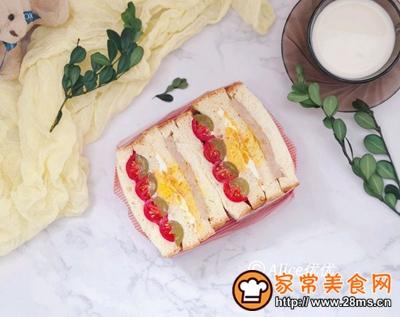 水果沙拉三明治的做法图解9