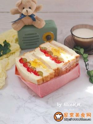 水果沙拉三明治的做法图解10