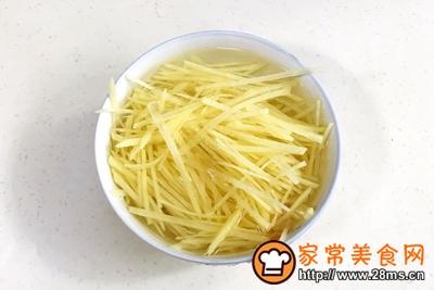 凉拌酸辣土豆丝的做法图解3