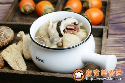 竹荪山药菌菇鸡汤的做法图解8