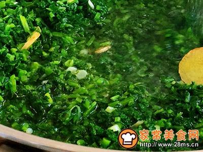 秋季保健萝卜苗黄豆粉小豆腐的做法图解6
