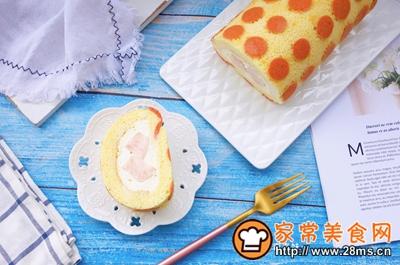 波点蜜桃蛋糕卷的做法图解23