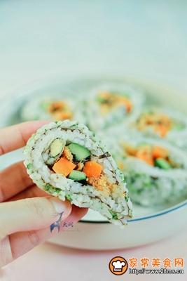 多春鱼肉松寿司的做法图解9