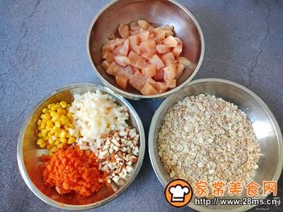 低脂燕麦鸡肉丸的做法图解1