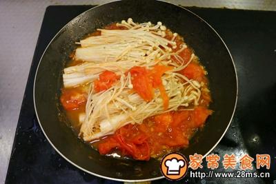 茄汁金针菇的做法图解6