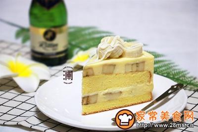 香蕉白巧芝士慕斯蛋糕的做法图解24