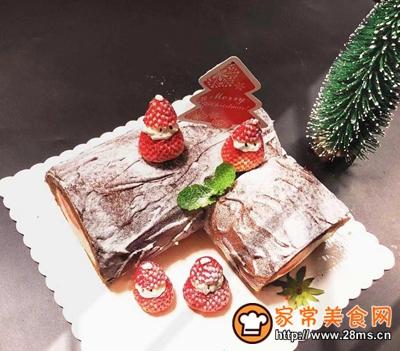 圣诞树桩蛋糕的做法图解27