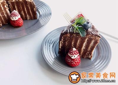 圣诞树桩蛋糕的做法图解33
