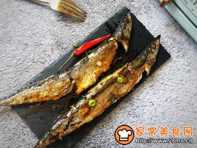 秋日里的烧烤香辣煎烤秋刀鱼的做法图解9