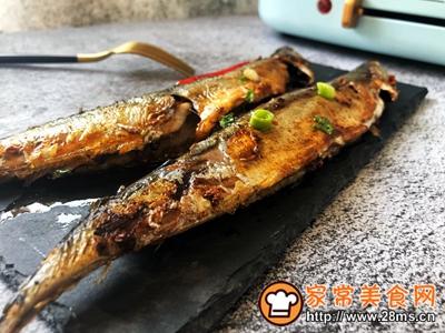 秋日里的烧烤香辣煎烤秋刀鱼的做法图解10
