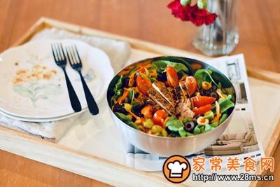 减肥杀手锏:鸡肉蔬菜沙拉的做法图解9