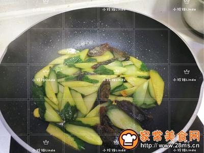 黄瓜烧皮蛋的做法图解8