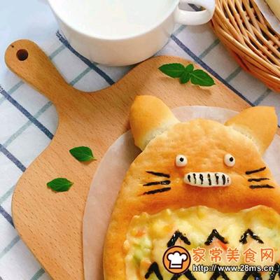 宝宝辅食龙猫披萨的做法图解8