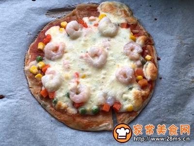 手抓饼版蔬菜虾仁披萨的做法图解7