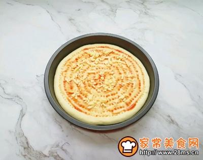 沙拉酱鸡肉披萨的做法图解12