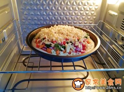 沙拉酱鸡肉披萨的做法图解16