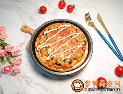 沙拉酱鸡肉披萨的做法图解18
