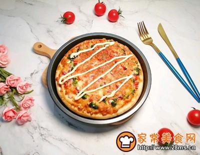 沙拉酱鸡肉披萨的做法图解19