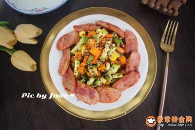 香肠蔬果沙拉的做法图解8