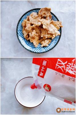 传统东北锅包肉的做法图解4